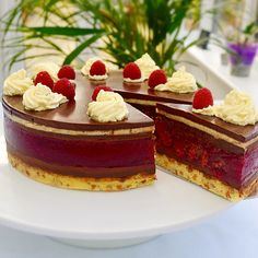 Raspberry & Chocolate Truffle Torte - find the recipe for this stunning torte on my website now.