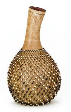 "*Gourd Art - ""Shekere"" African Instrument by Carol Twombly"