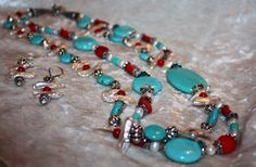 A personal favorite from my Etsy shop https://www.etsy.com/listing/166762438/chunky-double-strand-turquoise-biwa