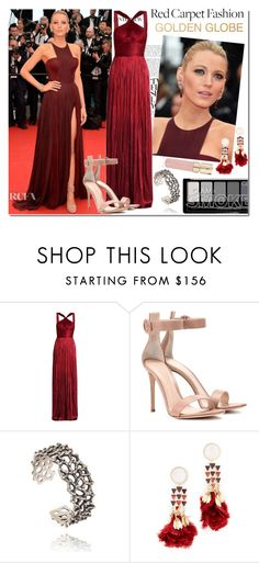 """""""Golden Globes with Blake L"""" by sandralalala ❤ liked on Polyvore featuring Maria Lucia Hohan, Gianvito Rossi, Tory Burch and Smith & Cult"""