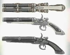 Save those thumbs Anime Weapons, Sci Fi Weapons, Weapon Concept Art, Weapons Guns, Fantasy Weapons, Arma Steampunk, Steampunk Weapons, Cool Guns, Twilight Princess