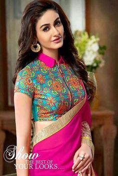 30 Latest High Neck Blouse Designs for Sarees Latest trends in Beauty, Fashion, Indian outfit ideas, Wedding style on your mind? We bring to you hand picked collections for inspiration Indian Blouse Designs, Blouse Designs High Neck, Silk Saree Blouse Designs, Fancy Blouse Designs, High Neck Blouse, High Neck Kurti Design, Latest Blouse Designs, Linen Blouse, Saris