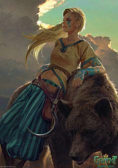 Gedyneith Flaminica - Gwent Card by akreon