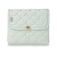 Changing Mat, Quilted - OCS - Sashiko Mint