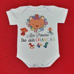 Body baby 💕 Meu primeiro dia das crianças !  Para maiores informações entrar em contato via WhatsApp 11-94943-6375  #Rejestamparia… Body, Onesies, Clothes, First Day, Stamping, Outfits, Clothing, Kleding, Babies Clothes