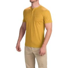 614760a0 Gramicci Brody Henley Shirt - Hemp-Organic Cotton, Slim Fit, Short Sleeve  (For Men)