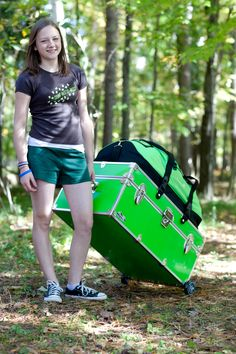 There is always so much stuff to bring to summer camp, but our Camp Trunks work with an attachable Piggyback Duffel Bag for extra storage & works with attachable wheels for easy moving! All trunks Made in the USA and come with a Free Lifetime Repair Warranty.