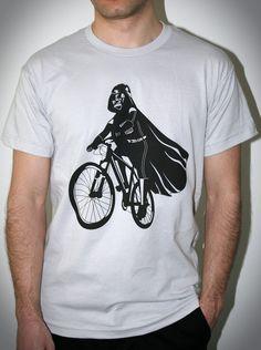 Darth Vader is Riding It - Mens shirt   Unisex shirt printed with ECO ink (  Star Wars   Darth Vader bike shirt ) 023623177