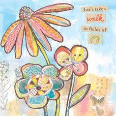 Oopsy Daisy - Fields of Joy Canvas Wall Art 18x18, Lori Siebert