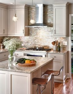 Adding a large island in the kitchen creates a wonderful space for entertaining