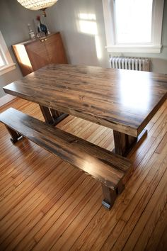 Butcher Block Table Free Shipping Solid Wood by EmmorWorks