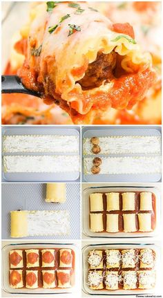 Quick and easy meatball lasagna recipe made with frozen meatballs, marinara sauce, lots of cheese. This meatball lasagna roll ups is simple 30 minute meal. Meatball Lasagna, Meatball Recipes, Creamy Pasta Recipes, Pasta Dinner Recipes, Healthy Baking, Easy Healthy Recipes, Cheap Recipes, How To Make Lasagna, Roll Ups Recipes