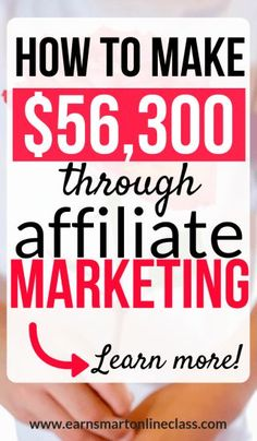 Want to know how to make money with affiliate marketing?Want to know how to make money with affiliate marketing? Michelle Gardner is an affiliate marketing expert and she shows you how to mak. Affiliate Marketing, Marketing Program, Business Marketing, Internet Marketing, Online Marketing, Online Business, Digital Marketing, Earn Money Online, Make Money Blogging