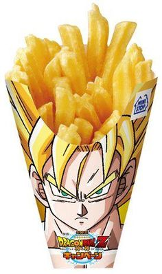 Dragon Ball Z Super Saiyan Fries Offered at Ministop Japan - JEFusion