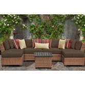 Found it at Wayfair - Laguna 7 Piece Seating Group with Cushion in cilantro or sesame