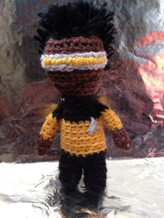 Star Trek TNG Crochet  Geordi La Forge by GeekeryTea on Etsy