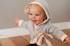 Hooded baby kimono wrap pattern  sizes 0-3 3-6 6-9 by EvieandEssie