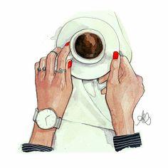 coffee espresso by pinodesk #fashionillustration #butfirstcoffe