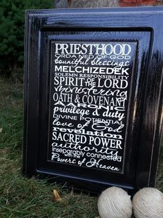 Priesthood Vinyl Word Art  (All Dahled Up)