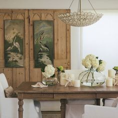 considering sourcing salvage doors and putting them on the wall behind the DR table for architectural interest, even though they will only be decorative?????