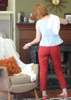 Colette patterns Clover pant and modified Sorbetto top