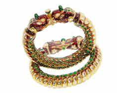 Bangles / Bracelets / Kada - Gold Jewellery Bangles / Bracelets / Kada (RJAGA00003) at USD 6,430.99 And EURO 5,864.94