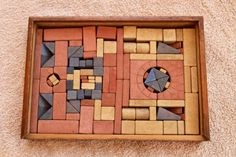 Rare Antique Boxed Set of Richter Anker Building Blocks No 8a | eBay