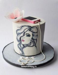 birthday cake by Elaine Boyle - Birthday Cake Vanilla Ideen Teen Cakes, Girly Cakes, Fancy Cakes, Crazy Cakes, Pretty Cakes, Cute Cakes, Beautiful Cakes, Birthday Cake With Flowers, Birthday Cakes For Teens