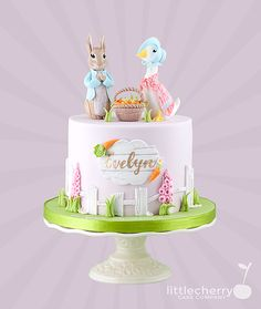 Little Cherry Cake Company (T-Cakes) - Posts Peter Rabbit Cake, Peter Rabbit Birthday, Baby Birthday Cakes, Bunny Birthday, Beatrix Potter Birthday Party, Beatrix Potter Cake, Christening Cake Girls, Little Girl Cakes, Duck Cake