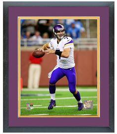 """Christian Ponder 2013 Minnesota Vikings - 11"""" x14"""" Matted/Framed Photo"""