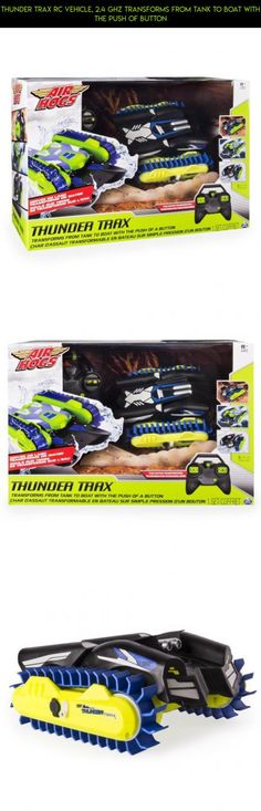 Thunder Trax RC Vehicle, 2.4 GHZ Transforms From Tank to Boat With The Push Of Button #technology #air #camera #racing #drone #tech #gadgets #boat #hogs #fpv #plans #shopping #parts #kit #products