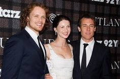 Sam Heughan, Caitriona Balfe, and Tobias Menzies at 92Y in NYC