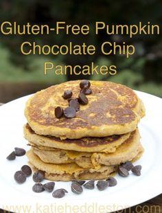 Gluten-Free Pumpkin Chocolate Chip Pancakes | Healthy Heddleston #fitfluential