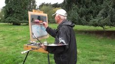 PLEIN AIR. John Crump is an amazing plein air artist giving some sage advice in his demo. Inspiring lesson.