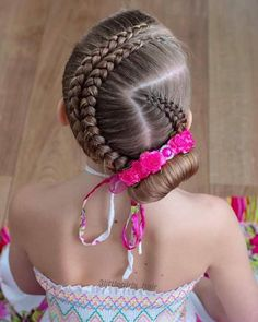 Baby Girl Hairstyles, Cute Hairstyles, Braided Hairstyles, Braids For Kids, Braided Updo, Hair Dos, Hair Beauty, Hair Styles, Creative Hairstyles