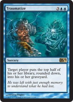 Black Friday 2014 Magic: the Gathering - Traumatize (77/249) - Magic 2014 from Magic: the Gathering Cyber Monday. Black Friday specials on the season most-wanted Christmas gifts.