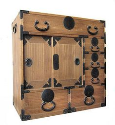 Japanese Antique Kiri Wood Choba Tansu