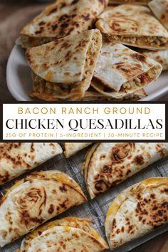 Healthy Chicken Recipes, Mexican Food Recipes, Low Carb Recipes, Dinner Recipes, Cooking Recipes, Healthy Ground Chicken Recipes, Cooked Chicken Recipes Leftovers, Dinner Ideas, Healthy Food