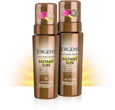 Jergens Natural Glow Instant Sun Sunless Tanning Mousse uniquely works with your skin tone to mimic results from the natural sun. Learn more now.