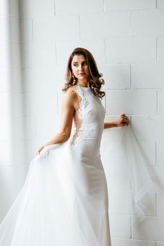 Liliana — Ella Moda One Shoulder Wedding Dress, Wedding Gowns, White Dress, Ideas Para, Unique, Skirts, Collection, Women, Fashion