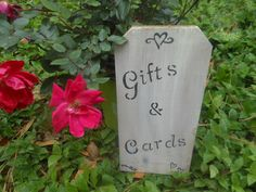 Gifts and Cards Rustic Wedding Sign by AngelPaws6 on Etsy
