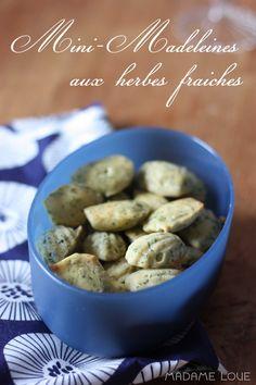 madeleines aux herbes fraiches