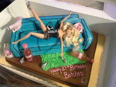 Drunken Barbie cake 21st Birthday Cakes, 35th Birthday, Birthday Ideas, Barbie Funny, Funny Cake, Barbie Cake, 21st Gifts, Girl Cakes, Let Them Eat Cake