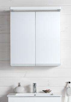 SUN SPEGELSKÅP 600 VIT EKSTRUKTUR - Hafa badrum Bathroom Medicine Cabinet, Sun, Design, Image, Design Comics