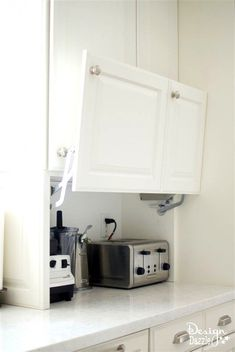 You will love all the Creative Hidden Kitchen Storage Solutions in this remodel!… You will love all the Creative Hidden Kitchen Storage Solutions in this remodel! Kitchen Storage Solutions, Diy Kitchen Storage, Home Decor Kitchen, Interior Design Kitchen, Smart Storage, Kitchen Organization, Hidden Storage, Organized Kitchen, Storage Organization