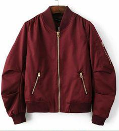 6973326b Jaqueta bomber vinho Bomber Jacket Outfit, Burgundy Bomber Jacket, Sweater  Jacket, Bomber Jackets