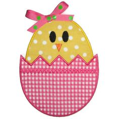 Easter Egg Chick Machine Embroidery Applique Design. $4.00, via Etsy.