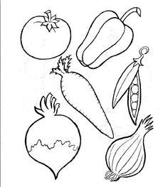 groente kleurplaat - Google zoeken