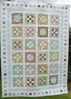This Groves of Gardens Nine Patch Quilt re-imagines pastel jelly roll blocks as plots of land filled with spring flowers. The philosophy behind this jelly roll quilt pattern is to keep things simple, so you can quickly piece these blocks together.