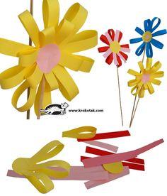 Construction paper flowers.